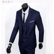 秋服 高い品質 ビジネス レジャー スーツ 3点セット 新しい スーツ セット レイク・-続く(1)