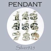 定番外 / 4-1931--1939 ◆ Silver925 シルバー ペンダント ネコ&CZ ナンバー 1to9