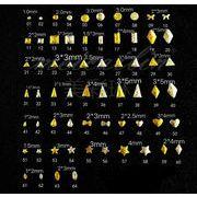 ネイル用品 ネイルパーツ ネイル 金属 薄い 約1000粒 デコ DIY ハンドメイド