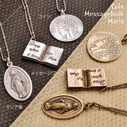 ▼MAGGIO▼【選べるモチーフ】コイン・マリア像・メッセージブックの3種類♪ ネックレス
