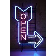 Arrow OPEN アロー オープン (ネオン管 看板 アメリカン雑貨 ・NEON SIGN・ネオンサイン)