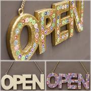 【SALE/値下げ】モンドビーズ ウォールサインオープン OPEN♪