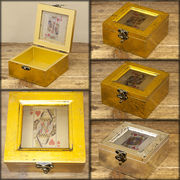 【SALE/値下げ】ジャック、クイーン、キングをモチーフ★トランプ スクエアボックス♪【JQK Wood Box】