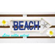 【ハワイアン】矢印BEACH(ビーチ)テキストボード