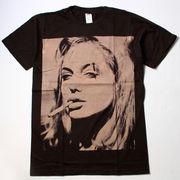 ヴィンテージ風 ロックTシャツ Angelina Jolie アンジェリーナ ジョリー Smoking