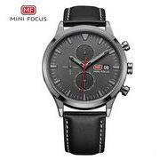 送料無料 MINIFOCUSメンズ クロノグラフカレンダー腕時計MF-148