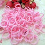 20個入り 安全プラスチックリング 指輪 フリーサイズ ピンク 貼り付け 土台 リング 手芸