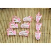 10個 子供用 バネ式イヤリングパーツ ピンク プラスチック 円形皿 カン付きタイプ アクセサリーパーツ