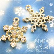 "▼SALE▼L&A original charm★雪の結晶チャーム★煌めくK16GP★""snow crystal""3"