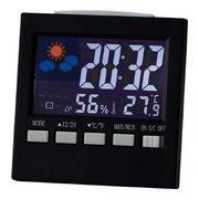 (クロック/ウォッチ)(ウェザー/カレンダー時計/温湿時計)カラーウェザークロック 6140
