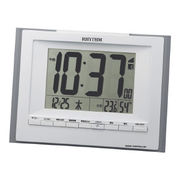 (インテリア・バラエティ雑貨)(デジタル時計)リズム フィットウェーブD168 8RZ168SR08