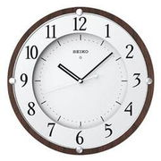 SEIKO セイコー 掛け時計 電波 アナログ 木枠 茶木地 KX373B