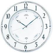 SEIKO セイコー 掛け時計 電波 アナログ 木枠 白パール LS230W