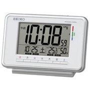 SEIKO セイコー 目覚まし時計 電波 デジタル  アラーム 温度 湿度 SQ775W