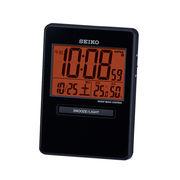 SEIKO セイコー 目覚まし時計 トラベラ 電波 デジタル カレンダー 温度 湿度 SQ781K