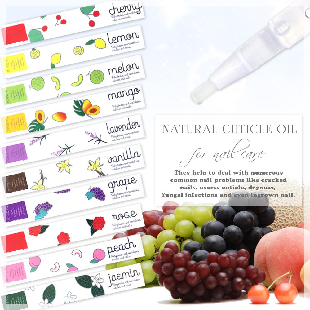 ネイル【最新ナチュラルキューティクルオイル】極上保湿 ネイル 10種類のアロマな香り ネイル