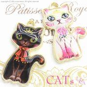 """▼SALE▼L&A original parts★ねこちゃん♪かわいいトップパーツ★""""CAT""""リアルパーツ♪119"""