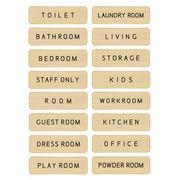 ドアプレート メタルプレート ドアサイン Aluminum Door Sign-Gold トイレ オフィス 部屋 表札