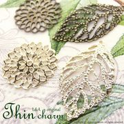 "★L&A original charm★Leaf★K16GP&金古美★薄型タイプ♪チャーム136 ""Thin series"""
