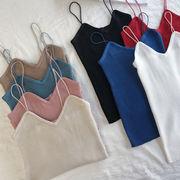 春 女性服 新しいデザイン 韓国風 何でも似合う 単一色 着やせ 着やせ インナー レン