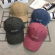 コットンロールキャップ 英文字 ヴィンテージ帽子 ユニセックス UVカット 紫外線対策