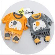 2018春 象 パターン スーツ 綿 韓国 子供服 工場 男の子のスーツ 子供のスーツ