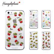 【Honeyelephant】 ファストフード case for iPhone5/5s/SE カバー (全4色) ハンバーガー ポテト マック