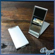 【SALE】アルミニウム・スリムミラー・携帯型ミラー・鏡・化粧直し・メイク直し