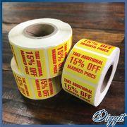 【SALE】アメリカ商品ラベルシール約500枚ロール・15%OFF・値引きシール