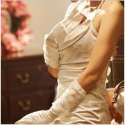 花嫁 ウェディングドレス 韓国 花嫁衣装 カフスカフフラワーグローブサテン 手袋