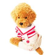 犬の服 ドッグウェア 犬服 つなぎ オーバーオール ボーダー