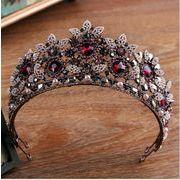 バロックレトロ 高品位 花嫁 王冠 ブライダルジュエリーブティックヘッドドレス 手作り 結晶
