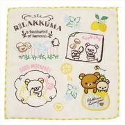 《新入学・新学期》リラックマ 全面刺繍ハンカチタオル/モーニング