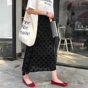 夏 新しいデザイン アンティーク調 ハイウエスト 着やせ 中長デザイン 言葉 大 スカー