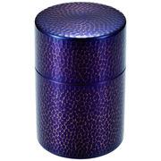 純銅紫被仕上げ茶筒
