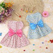 犬服 ワンピース 夏 薄手 2色 花柄 ペット服 ペット用品 ペット用