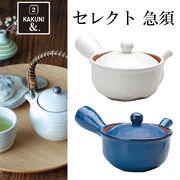■カクニ■■美濃焼 まとめ買い特集■ 削ぎ型平急須(ステンレス茶こし付)
