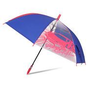 [55cm]傘 キッズ 子供用 男の子 2コマ透明窓付き ジャンプ傘
