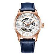 送料無料 OB メンズ スケルトン ビジネス 自動巻き 腕時計 ob-6