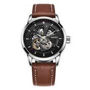 送料無料 OB メンズ スケルトン ビジネス 自動巻き 腕時計 ob-4
