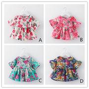 子供 Tシャツ 薄手 4色 花柄 キッズ ブラウス トップス 定番 シンプル
