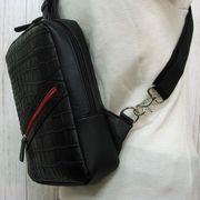 【本革バッグ】牛革型押し ワンショルダーボディバッグ