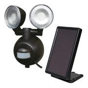 (防災・防犯)(防犯グッズ)ソーラーセンサーライト 2灯 MSL-SOL4W