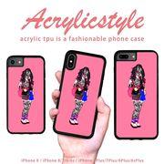 iPhone 7 8 X ケース 柄 女の子 ファッション ロック