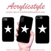 iPhone 7 8 X ケース 星 スター ヒーロー 黒 シンプル
