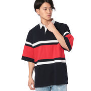 【2018春夏新作】17/-OE天竺 半袖 切替 BIGラガーシャツ(無地)