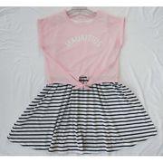 女児ワンピース&Tシャツ2点セット【472002】