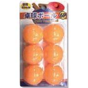 卓球ボール(オレンジ) 6P 425-04