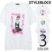 蛍光プリントTシャツ/sb-275732