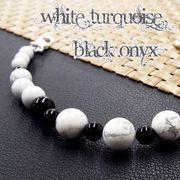 天然石 羽織紐 和装小物 着付け小物 ホワイトターコイズ オニキス 《SION パワーストーン 天然石》